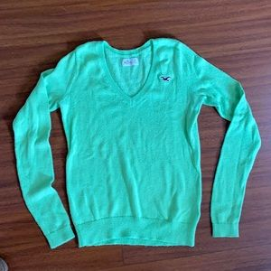 Lime Green Hollister sweater size Small